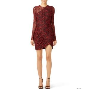 Parker Vicky Lace Long sleeve Sexy Mini Dress